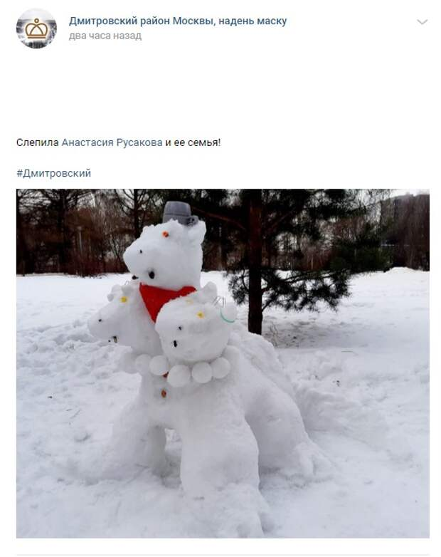 Фото дня: в Дмитровском поселился Змей Горыныч