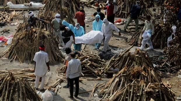 """""""Черная плесень"""" поразила Индию на фоне роста количества случаев коронавируса"""