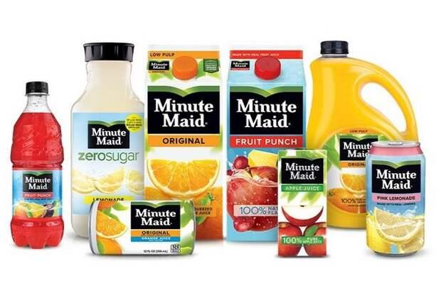 Minute Maid (стоимость бренда: 1,2 миллиарда долларов)
