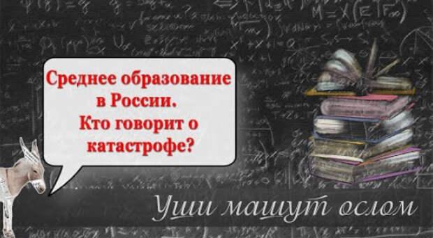 Среднее образование в России. Кто говорит о катастрофе?   Уши машут ослом (90)