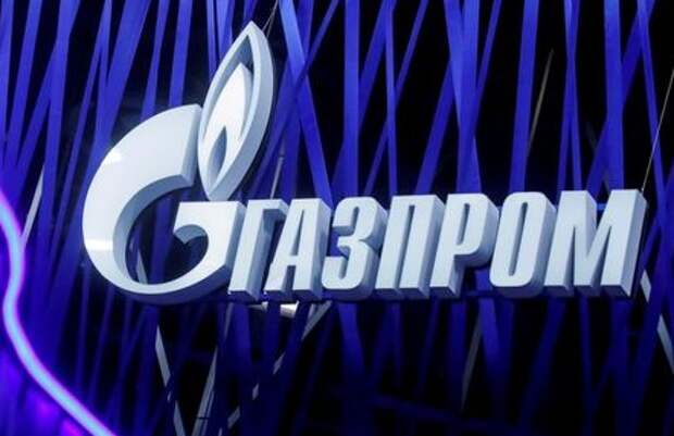 FILE PHOTO: The logo of Russian gas giant Gazprom is seen on a board at the St. Petersburg International Economic Forum (SPIEF), Russia, June 6, 2019. REUTERS/Maxim Shemetov/File Photo