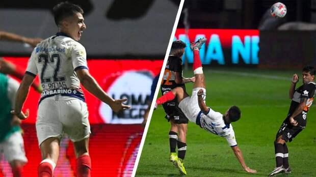 Красивейший гол аргентинского защитника ударом ножницами после приема мяча на грудь. Он принес «Сан-Лоренсо» победу