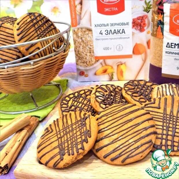 Постное печенье с зерновыми хлопьями