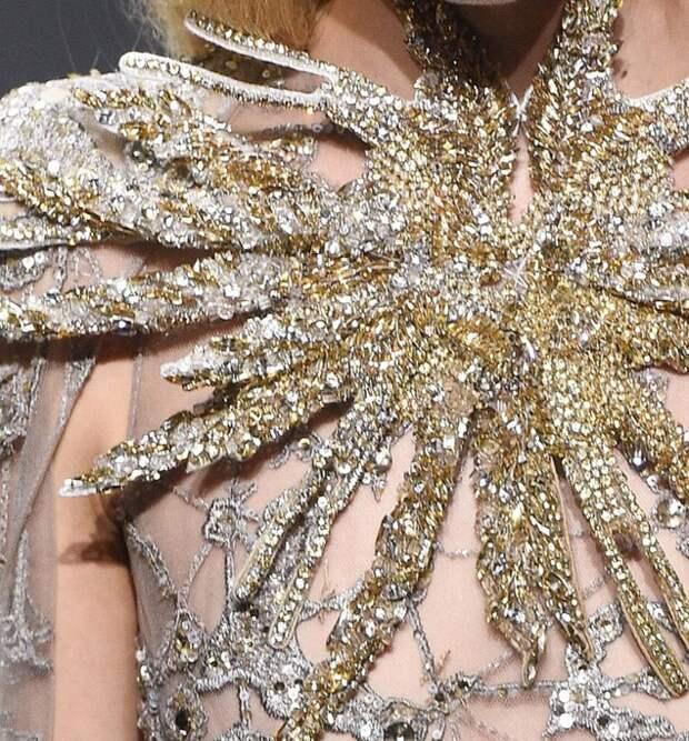 Вышивка высокой моды в новой весенней коллекции Elie Saab. Ч. 2 (продолжение)