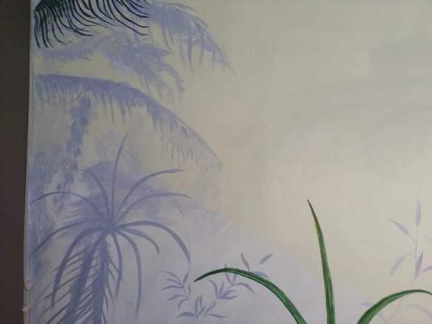 Сначала тени от растений. Фото автора