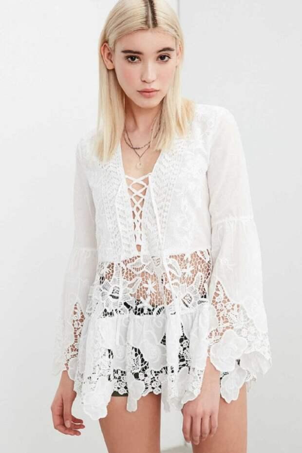 Отличный вариант на лето: бохо, белый бохо