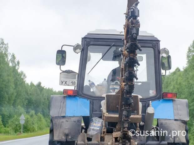 Жителя Удмуртии осудили за пьяную езду на тракторе