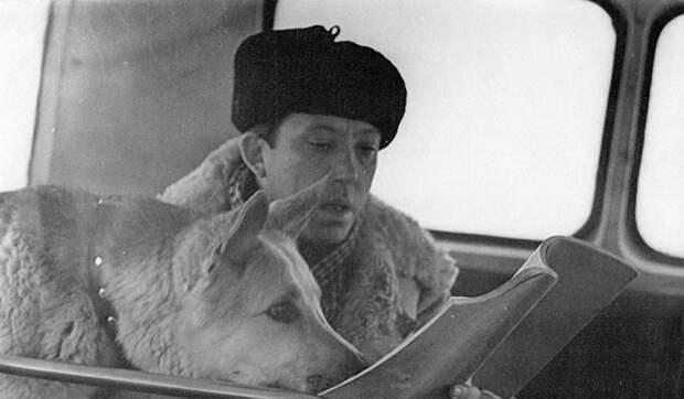 Как Юрий Никулин и пес Дейк подружились на съемках фильма «Ко мне, Мухтар!»