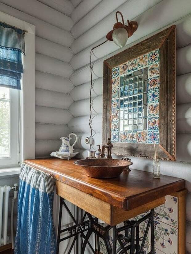 Дом под Рузой с деревенской кухней: интерьер дома в гармонии прованса и русской старины
