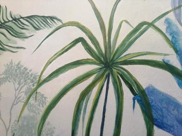 Чтобы прорисовать лист вот этого растения, понадобился желтый колер. Фото автора
