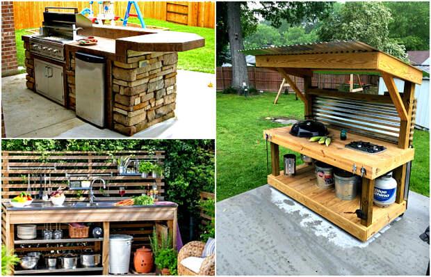 Вдохновляющие идеи оформления летней кухни.