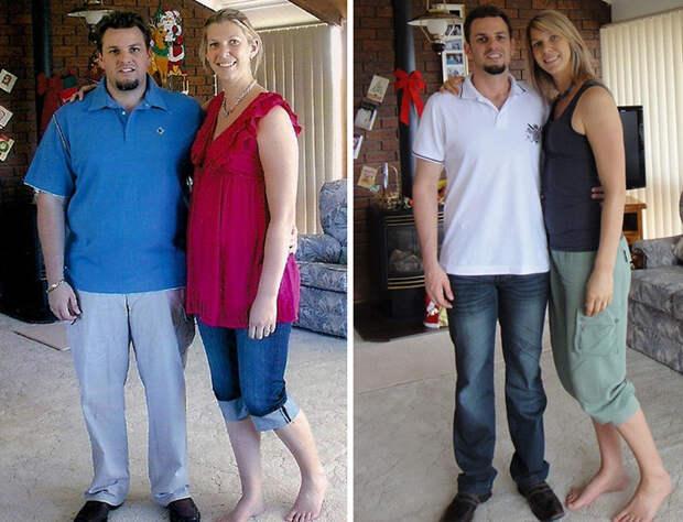 Кристал и Эндрю до и после палеодиеты диета, лишний вес, похудение