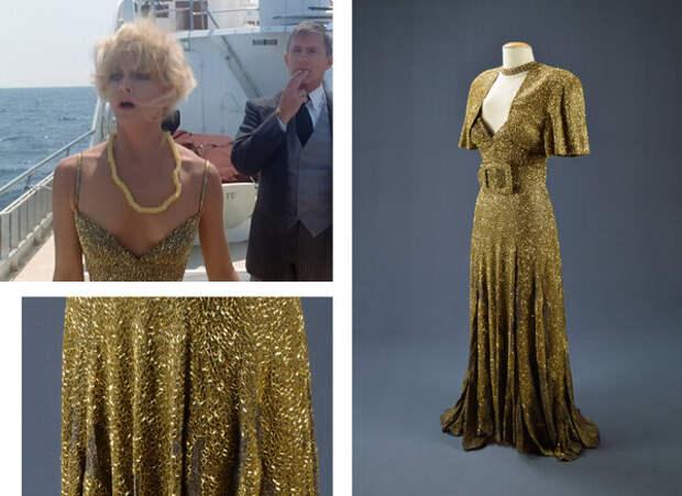 """кадр из фильма """"За бортом"""" и оригинал платья. А вы заметили милое украшение Джоанны? помните откуда оно? :)"""