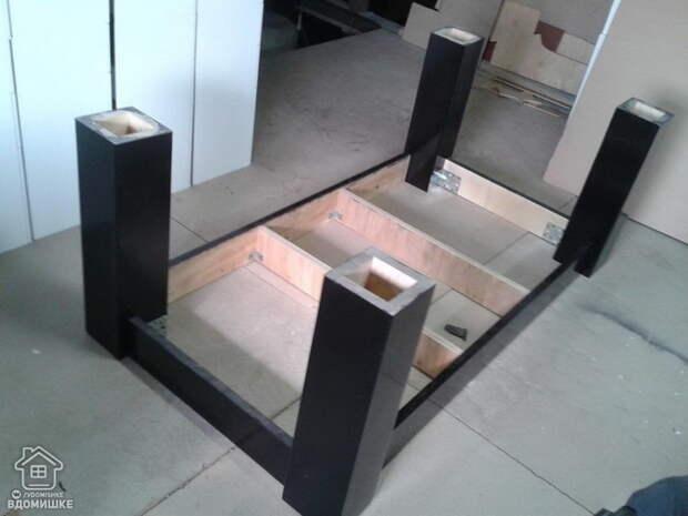 Пошаговый процесс изготовления несложного бильярдного стола своими руками