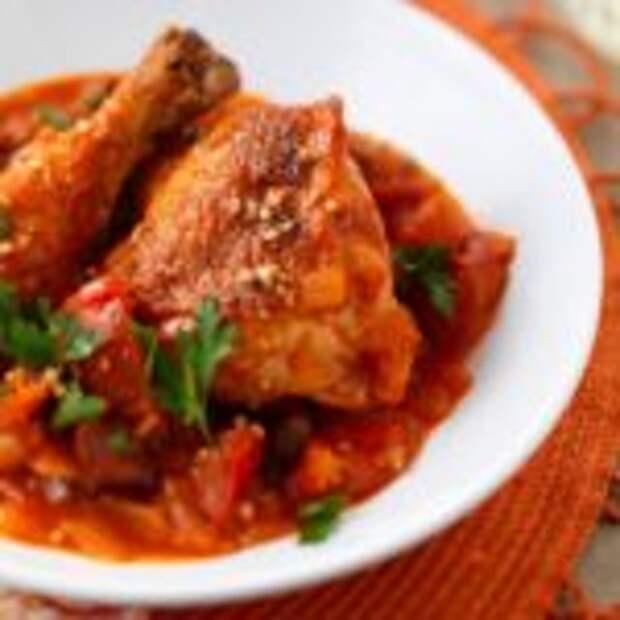 Котопулу кокинисто – тушёная курица по-гречески