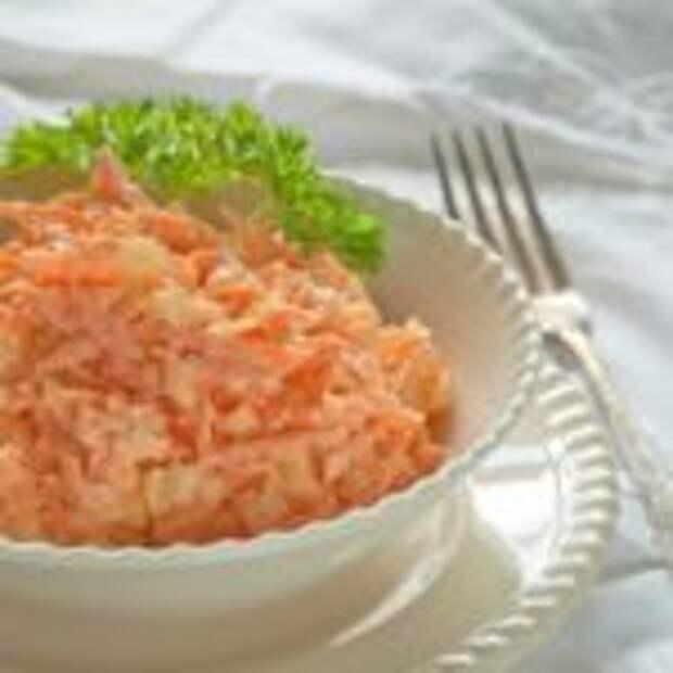 Морковный салат с яйцом