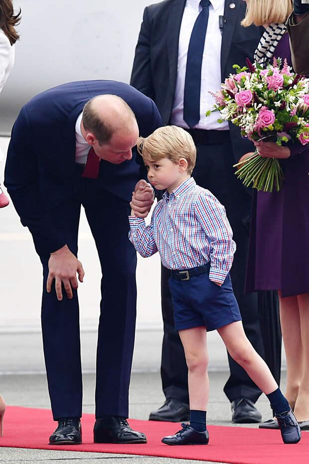 Принц Уильям и принц Джордж