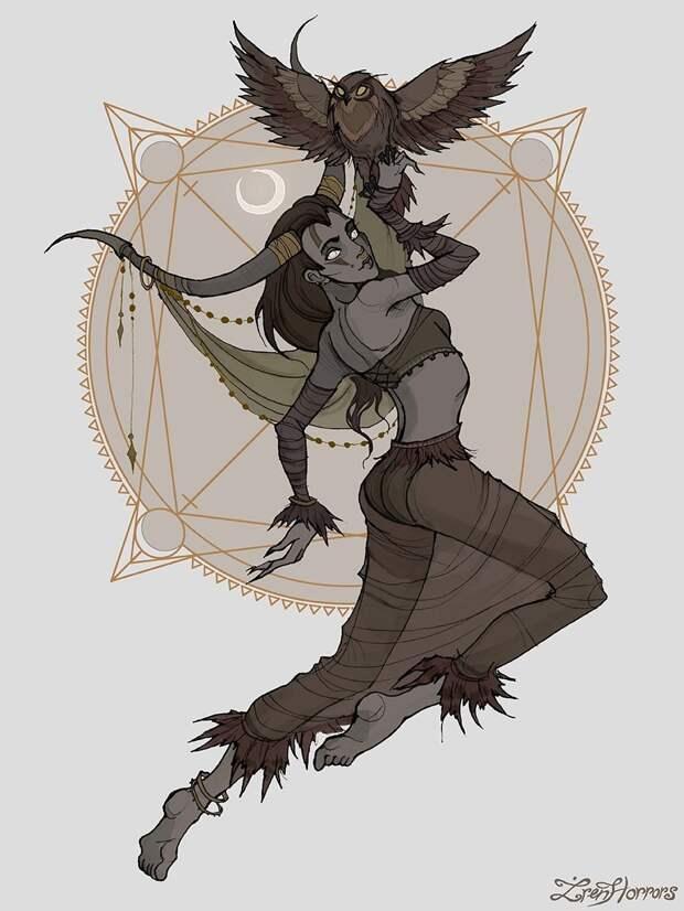 художница представила 12 знаков Зодиака в виде мрачных ведьм, Iren Horrors