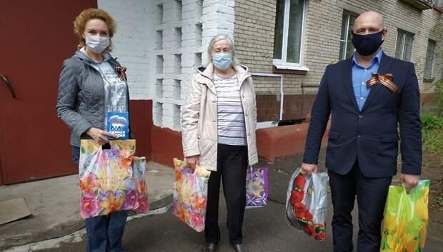 Пожилые инвалиды в Подольске получили продуктовые наборы