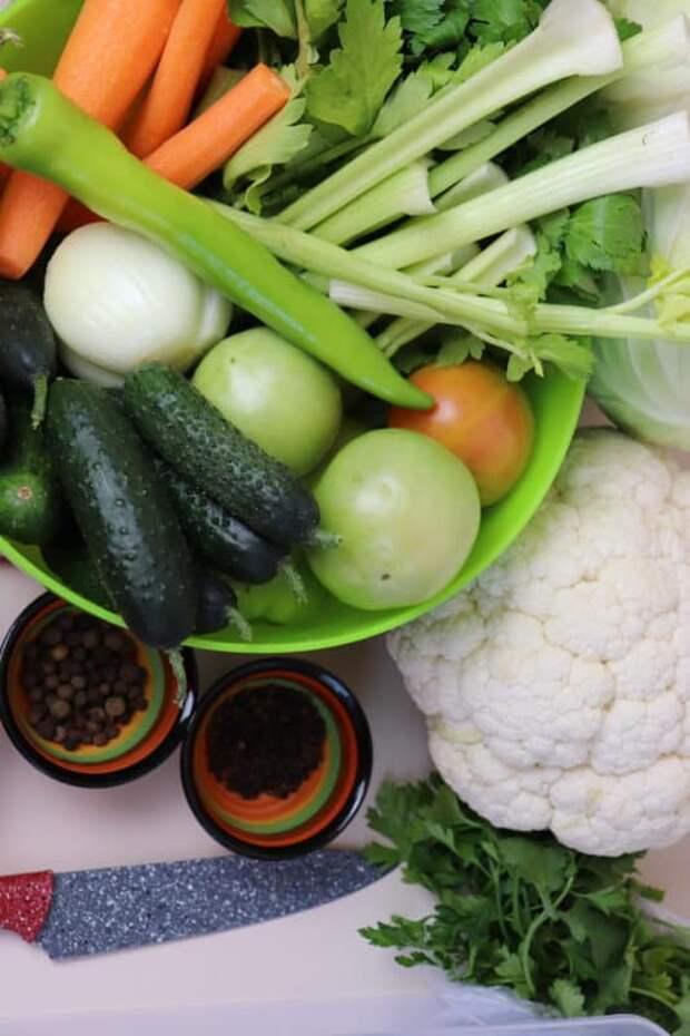 Засолка овощного ассорти: быстрое квашеные без заморочек. (Видео) 18