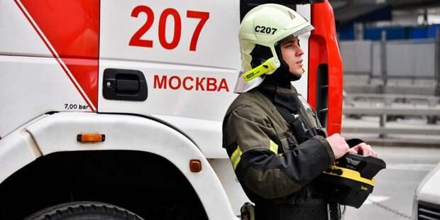В Новомихалковском проезде на мужчине загорелась одежда