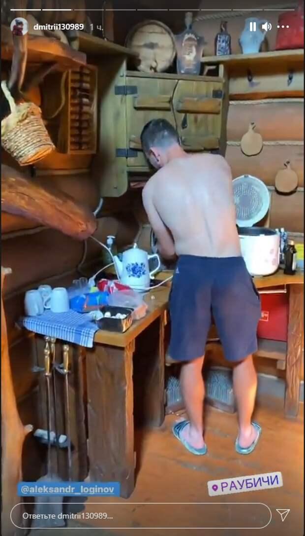«Выходной день проводим в баньке, Саня Логинов на кухне дежурит». Группа Башкирова отдыхает после тренировок в Раубичах