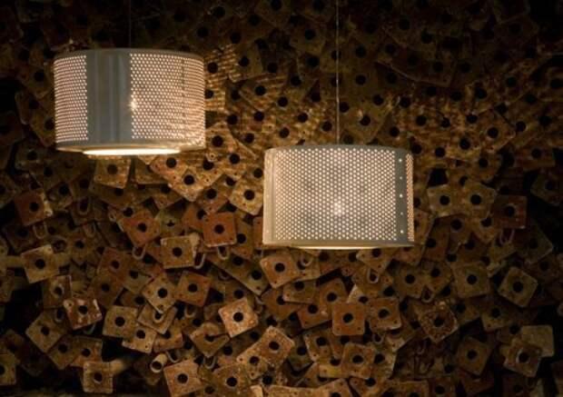 Это потолочные светильники из барабанов от стиральной машины с минимальной их переделкой Фабрика идей, лайфхаки для дома и сада, переделки, своими руками, стиральная машина