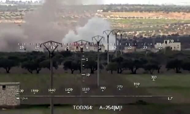 Артиллерийский удар по боевикам в Сирии показали на видео