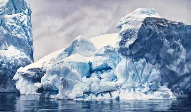 Душа Антарктики: гиперреалистичная пастельная живопись Zaria Forman