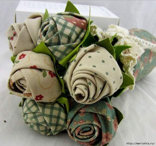 Ручная работа. Цветы из ткани (31) (663x621, 289Kb)