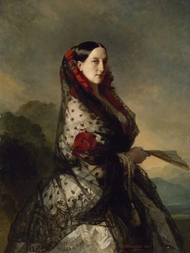 Портрет Марии Николаевны, Ф. К. Винтергальтер, 1857 год, Источник: wikiCommons