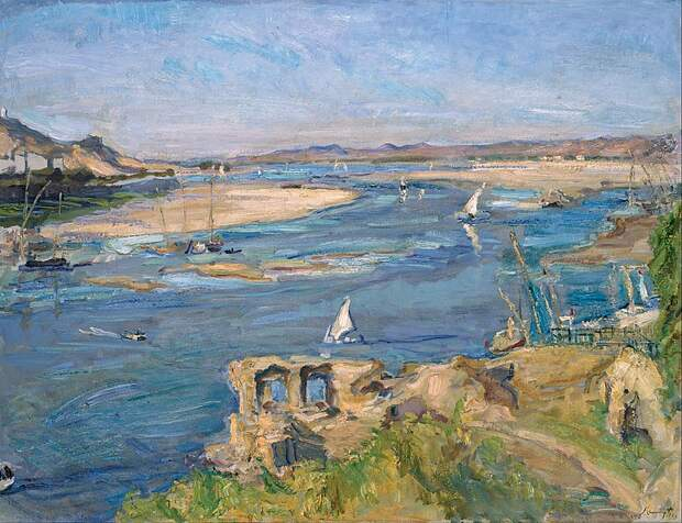 Max Slevogt - The Nile near Aswan. 1914