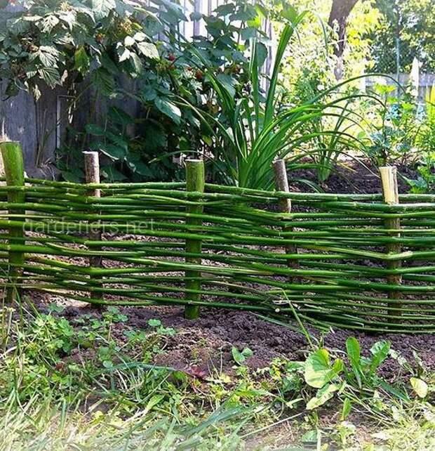 Предназначение плетеного заборчика