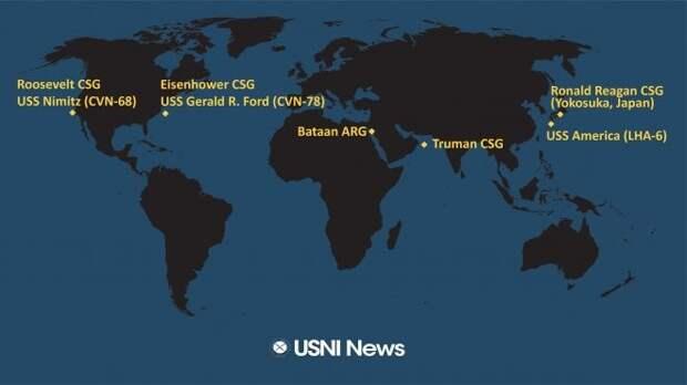NATO собирает возле Китая авианосцы?