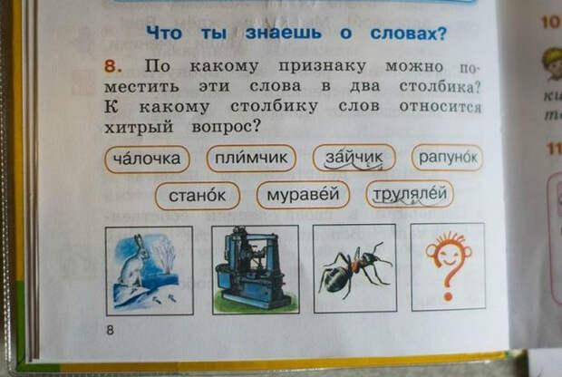 Книга - источник знаний: 20 сумасшедших заметок и заданий из школьных учебников