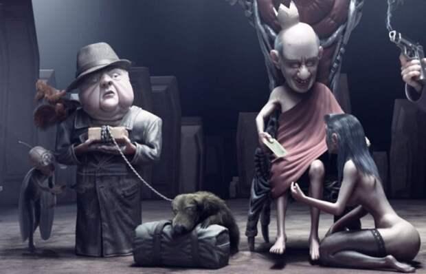 Ирреальная реальность: Ироничные иллюстрации с неоднозначными сюжетами