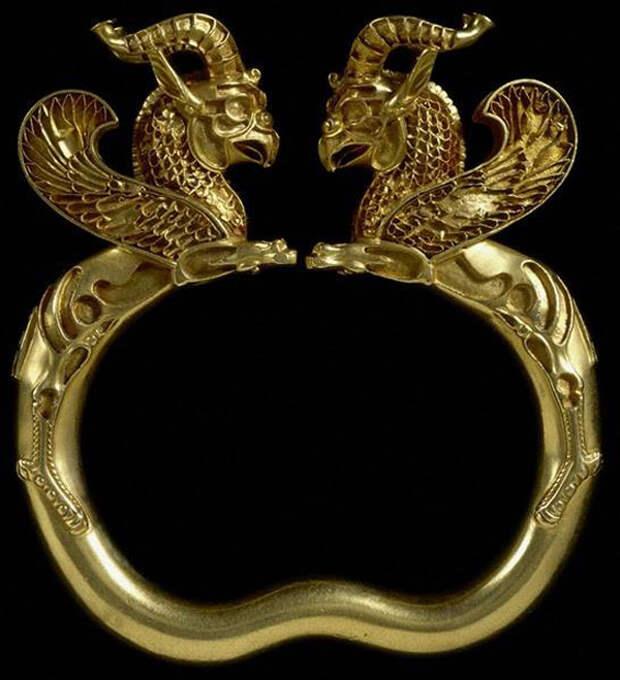 грифоны-Grifos, Tesoro aqueménida de Oxus, 500-330 a.C.,