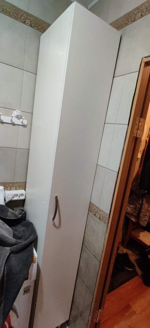 Сделал пенал в ванную сам.
