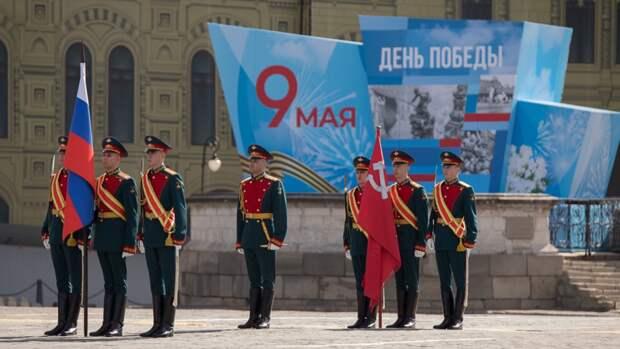 Военный потерял сапог по время парада Победы на Красной площади