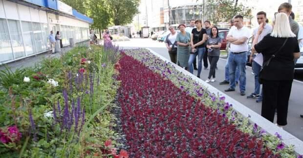 Мастер-класс по организации цветников прошел в сквере на Дежнёва