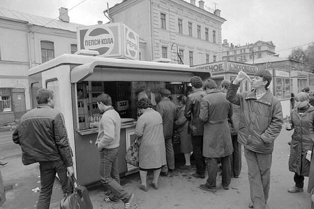 Стенд Pepsi в Москве, 1983 год.