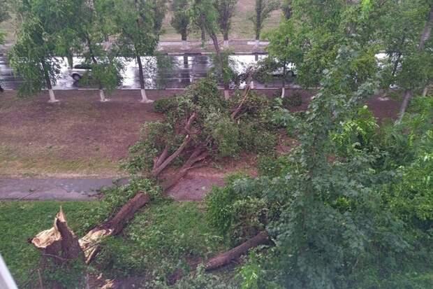 Саратовскую область накрыло ураганом