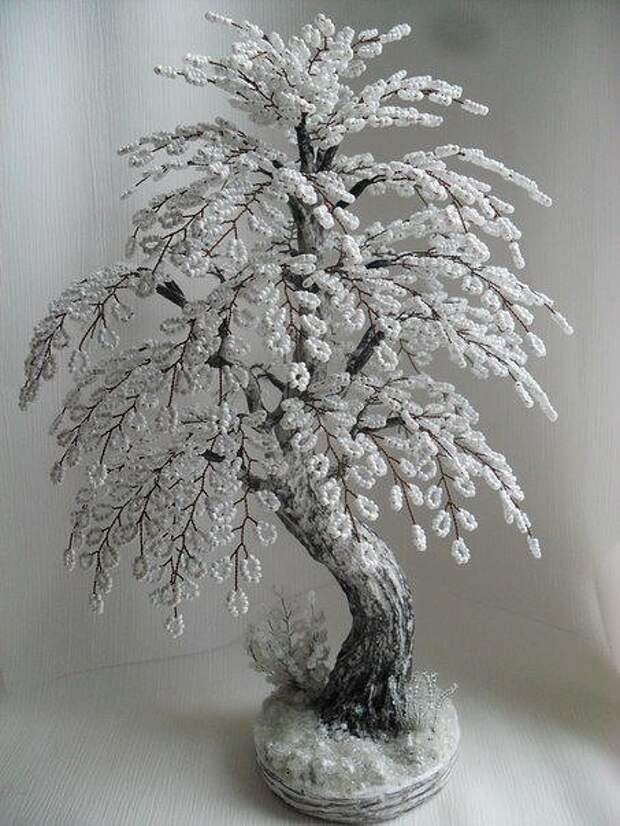 Немного зимней красоты из бисера Вам в ленту.
