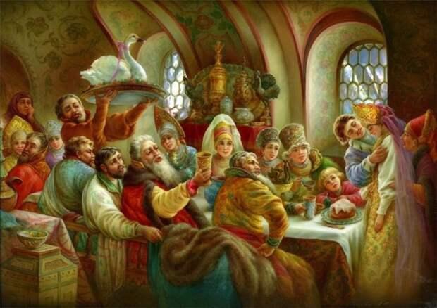 Русские издавна славятся гостеприимством и любовью к большим праздникам