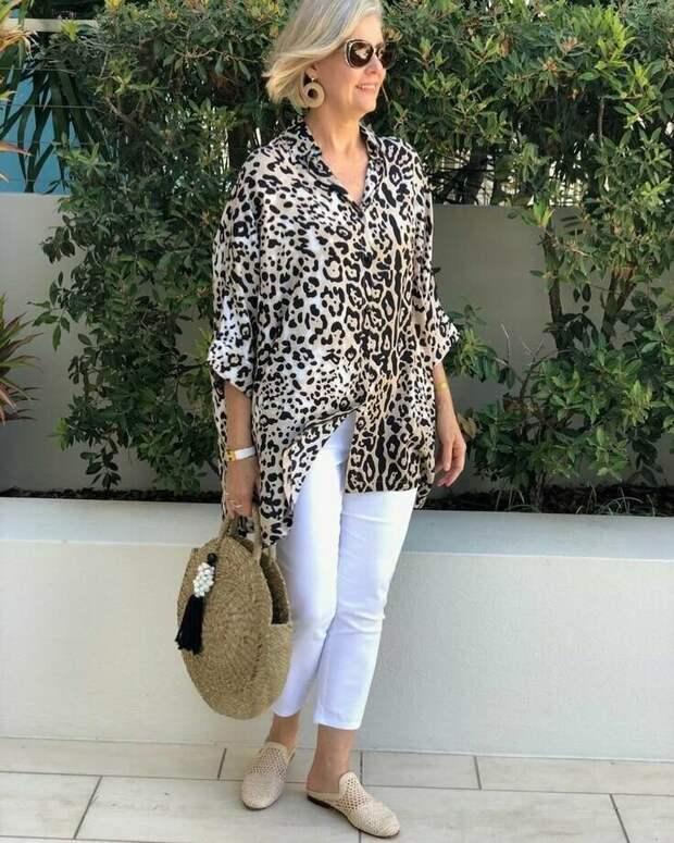 Леопардовая рубашка добавит наряду пикантности. /Фото: mtdata.ru