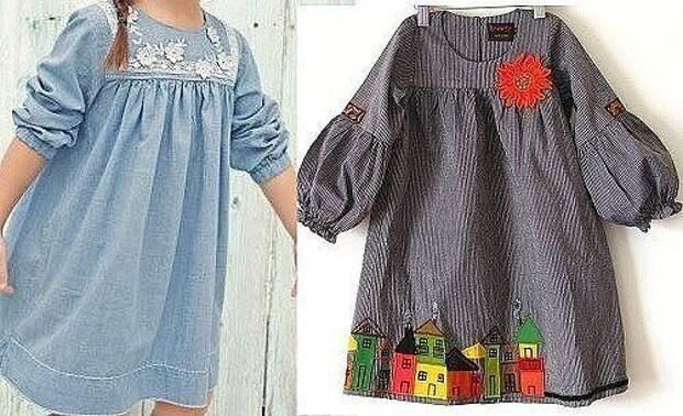 """Выкройка платья с рукавом """"фонарик"""" для девочки Размеры на возраст 1-14 лет (Шитье и крой)"""