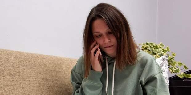Москвичи могут передать жалобы на самочувствие перед приемом через робота по телефону. Фото: М. Денисов mos.ru