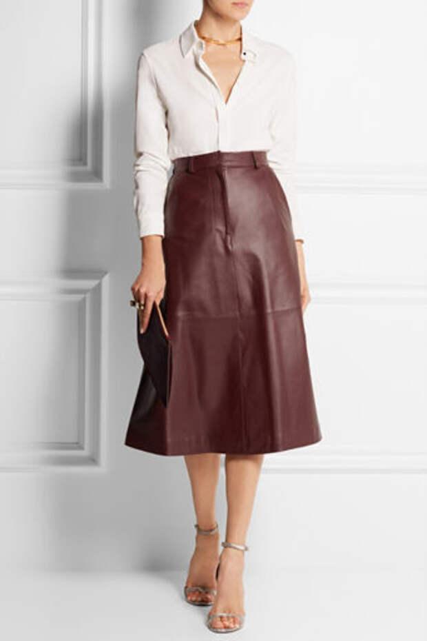 11 фасонов кожаных юбок: с чем носить.