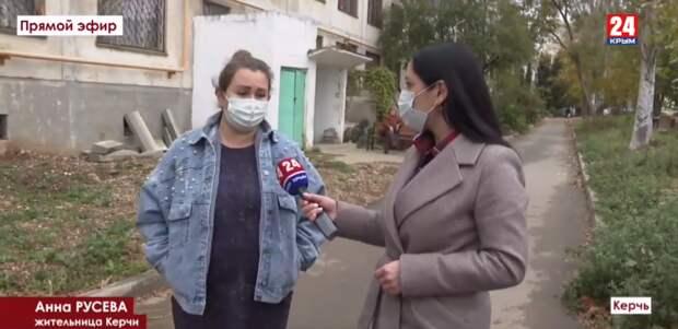 В Керчи на глазах жильцов рушится многоэтажка