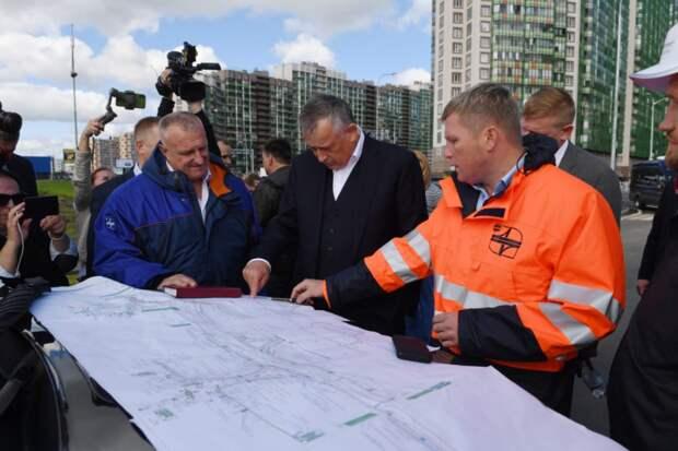 В Петербурге завершилось строительство новой развязки в Мурино